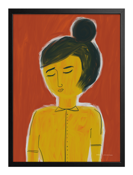 WOMAN ON ORANGE